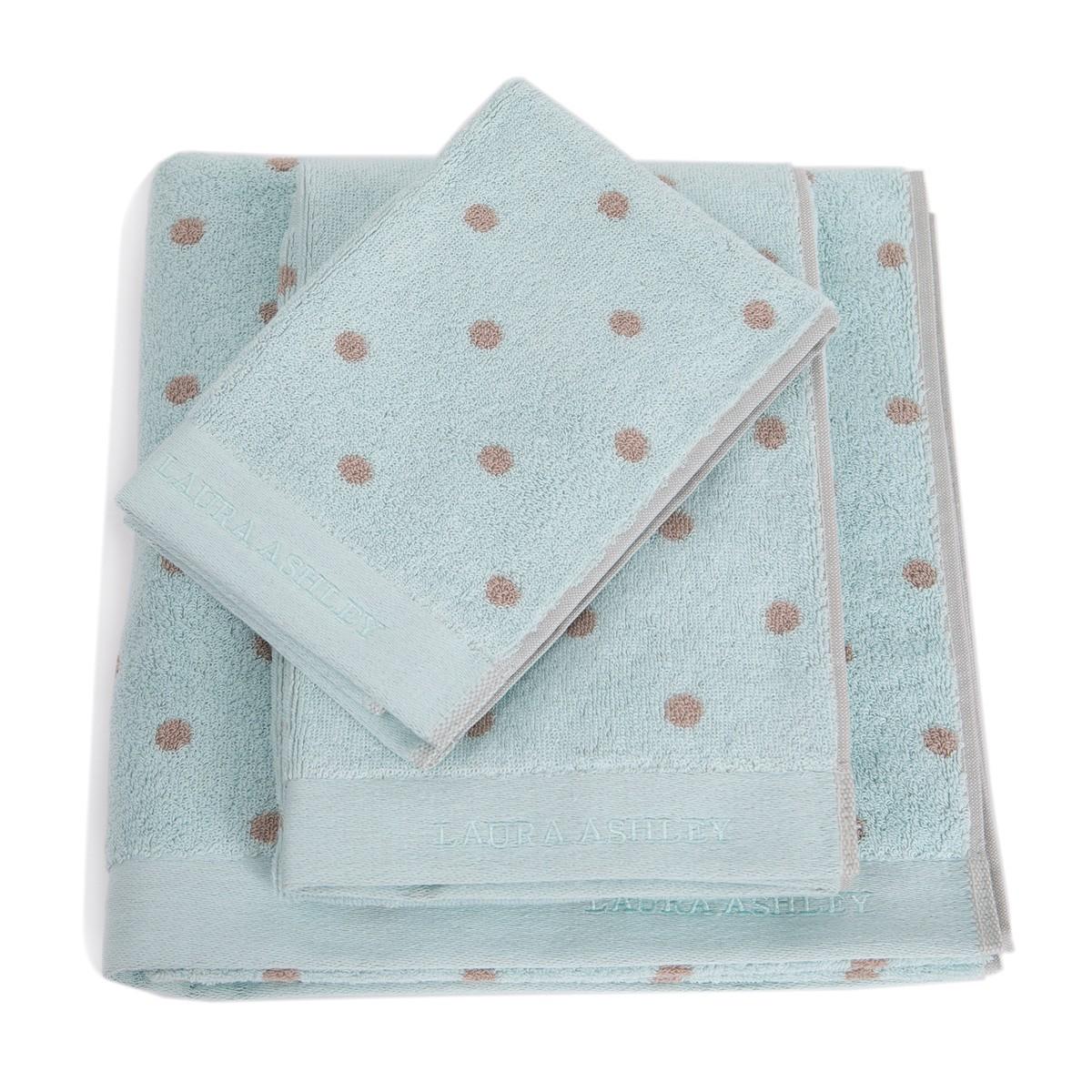 Πετσέτα Χεριών (30x50) Laura Ashley Polka D.Egg home   μπάνιο   πετσέτες μπάνιου