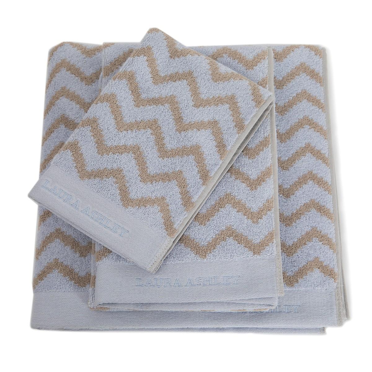 Πετσέτες Μπάνιου (Σετ 3τμχ) Laura Ashley Diagonal Ivory