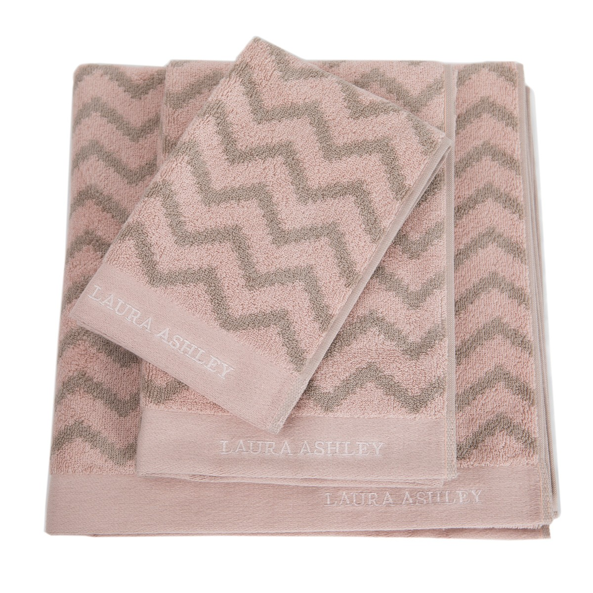 Πετσέτα Χεριών (30×50) Laura Ashley Diagonal Old Rose