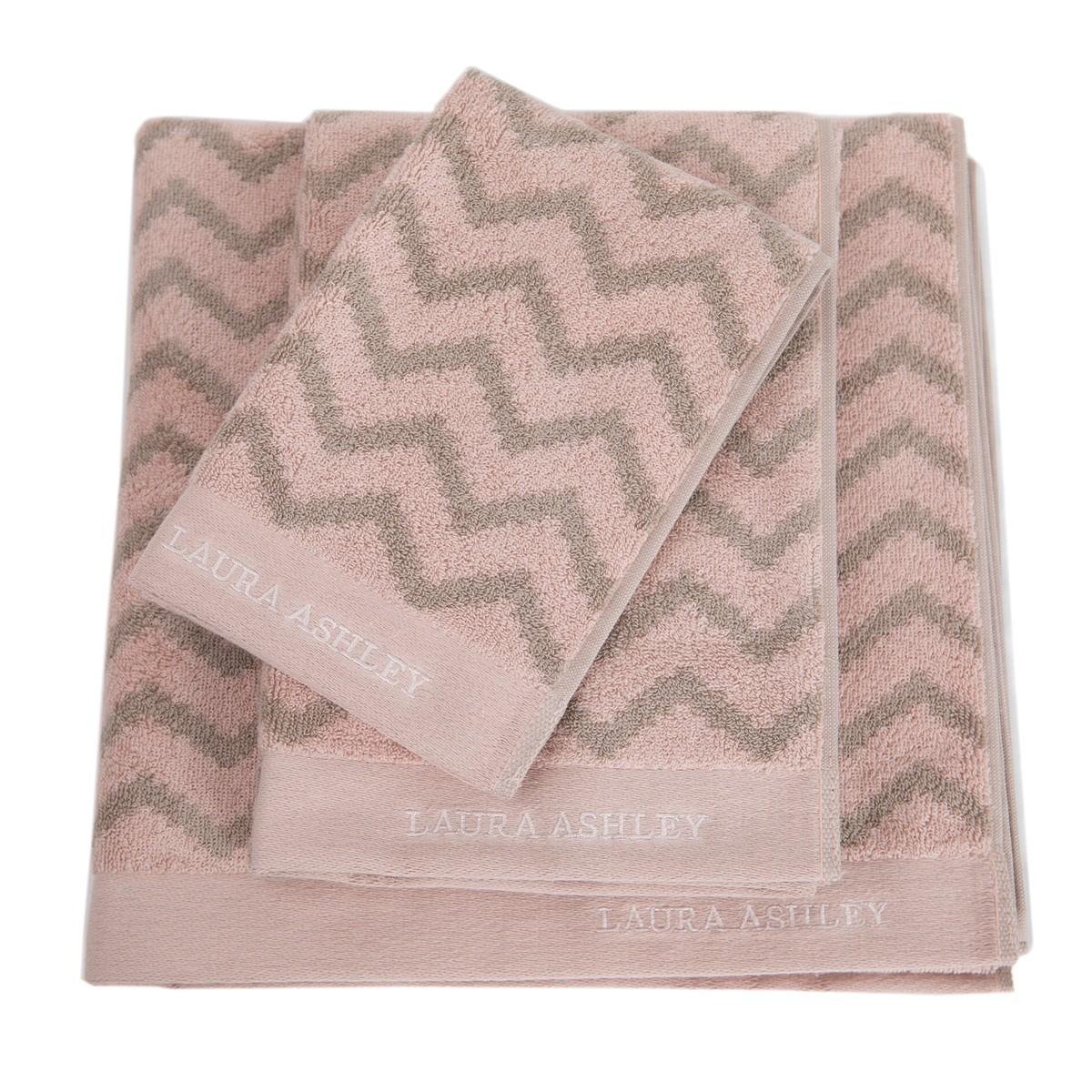 Πετσέτα Χεριών (30x50) Laura Ashley Diagonal Old Rose