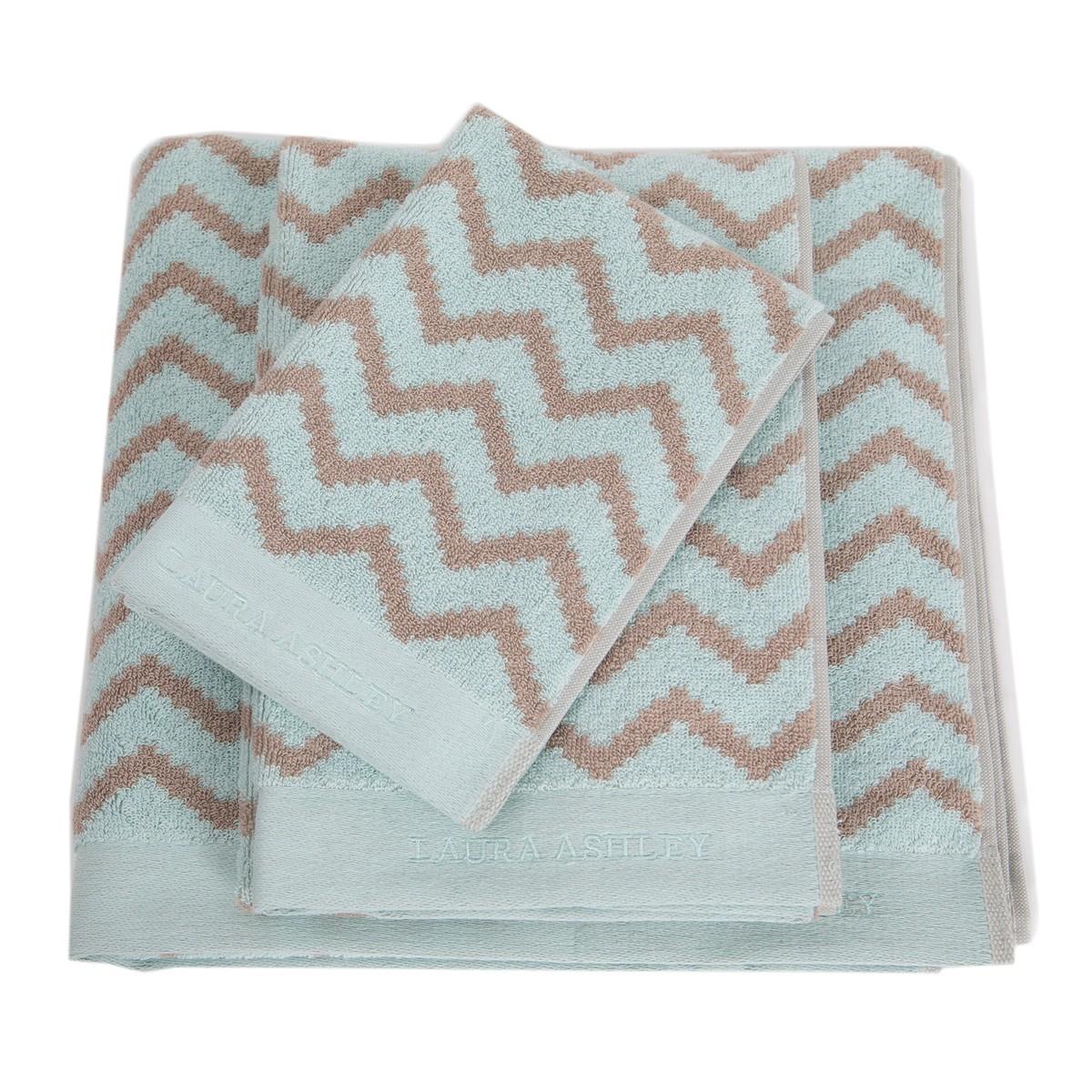 Πετσέτες Μπάνιου (Σετ 3τμχ) Laura Ashley Diagonal D.Egg