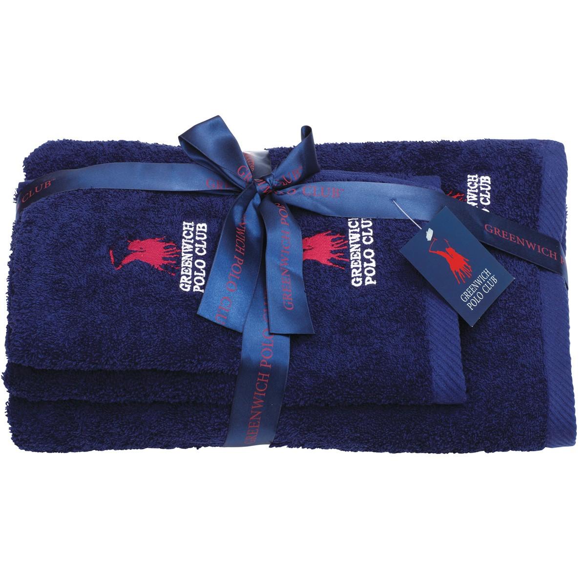 Πετσέτες Μπάνιου (Σετ 3τμχ) Polo Club Essential 2502