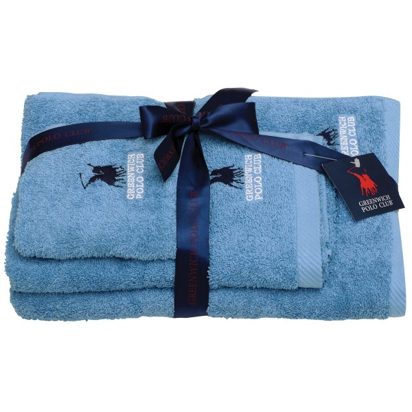 Πετσέτες Μπάνιου (Σετ 3τμχ) Polo Club Essential 2503