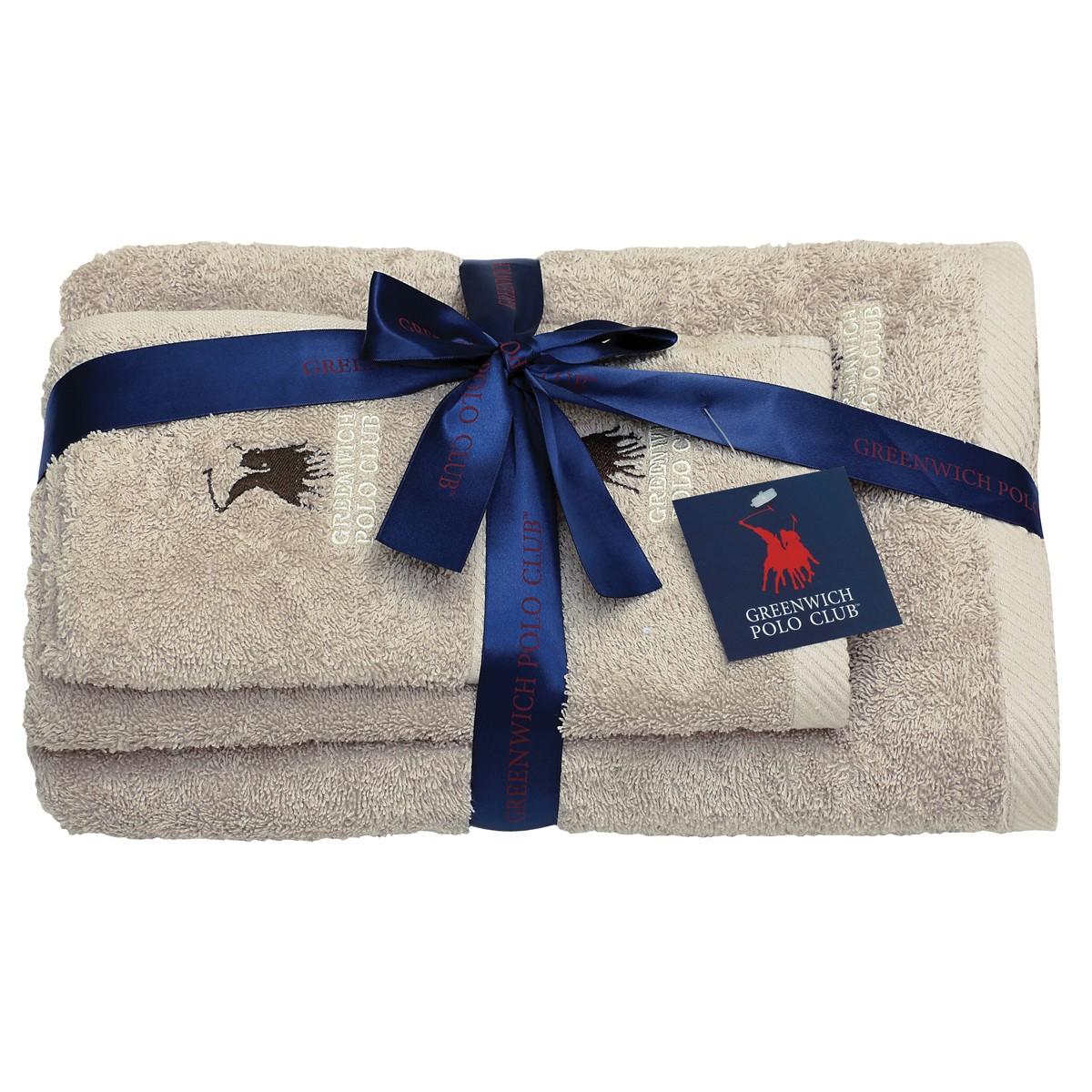 Πετσέτες Μπάνιου (Σετ 3τμχ) Polo Club Essential 2505