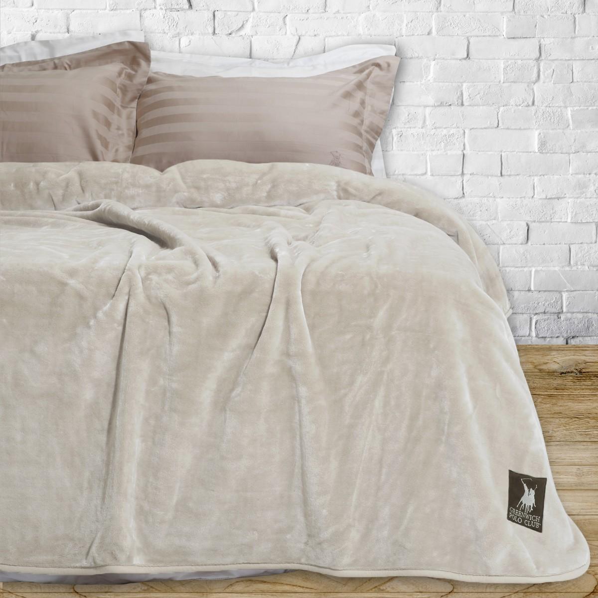 Κουβέρτα Βελουτέ Υπέρδιπλη Polo Club Essential Blanket 2401