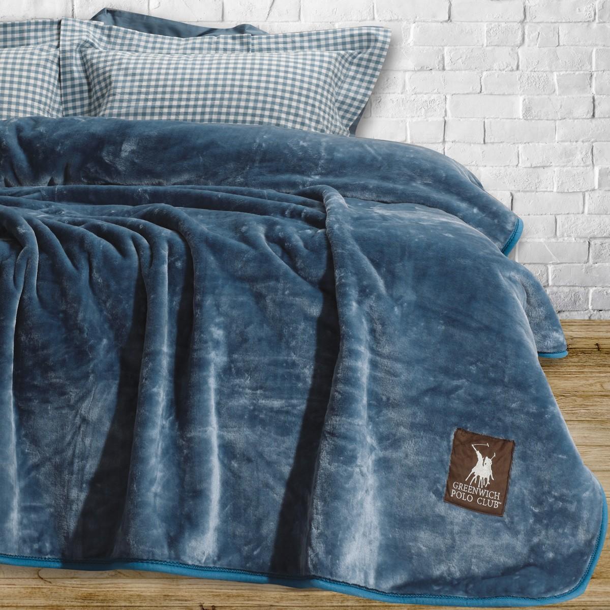 Κουβέρτα Βελουτέ Υπέρδιπλη Polo Club Essential Blanket 2404 home   κρεβατοκάμαρα   κουβέρτες   κουβέρτες βελουτέ υπέρδιπλες