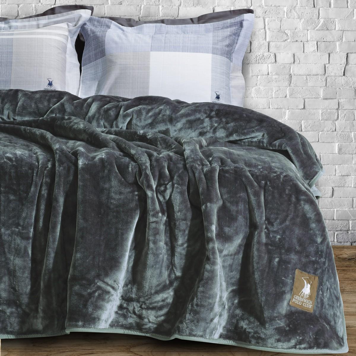 Κουβέρτα Βελουτέ Υπέρδιπλη Polo Club Essential Blanket 2405