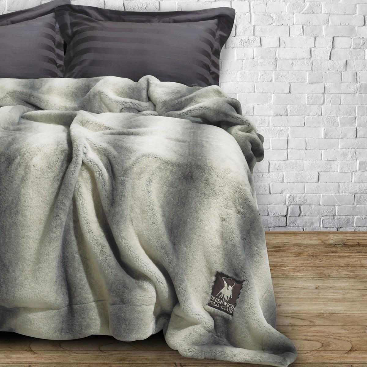 Κουβέρτα Γούνινη Υπέρδιπλη Polo Club Premium Faux Fur 2406