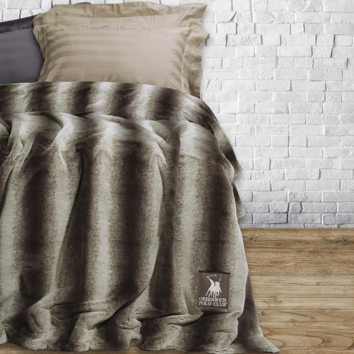 Κουβέρτα Γούνινη Υπέρδιπλη Polo Club Premium Faux Fur 2408 home   κρεβατοκάμαρα   κουβέρτες   κουβέρτες γούνινες   μάλλινες