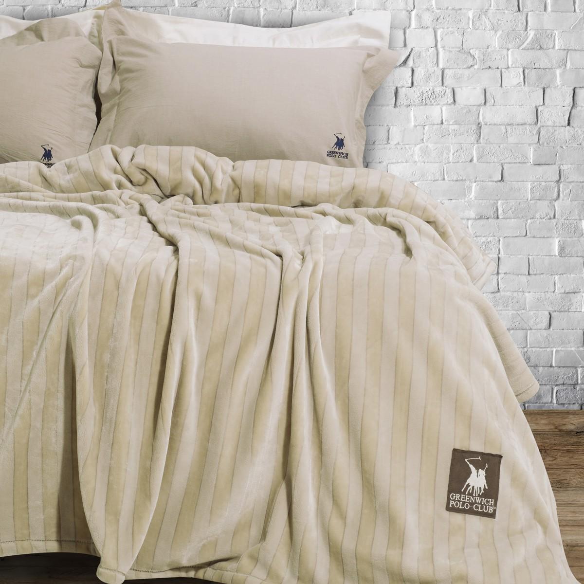 Κουβέρτα Fleece Υπέρδιπλη Polo Club Essential Blanket 2410