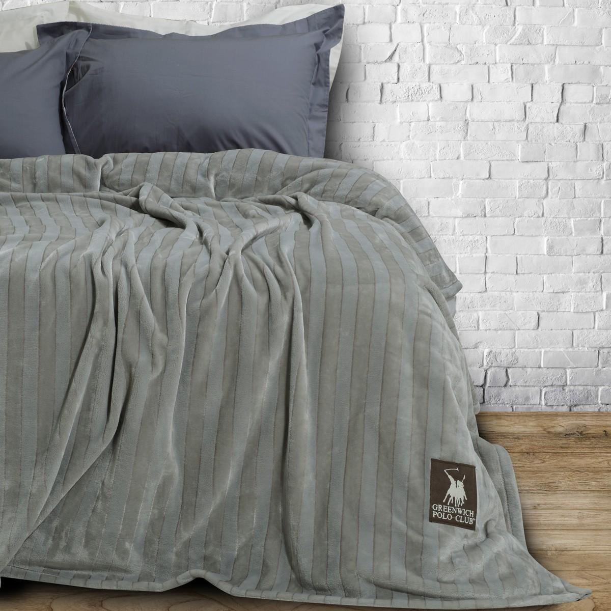 Κουβέρτα Fleece Υπέρδιπλη Polo Club Essential Blanket 2411