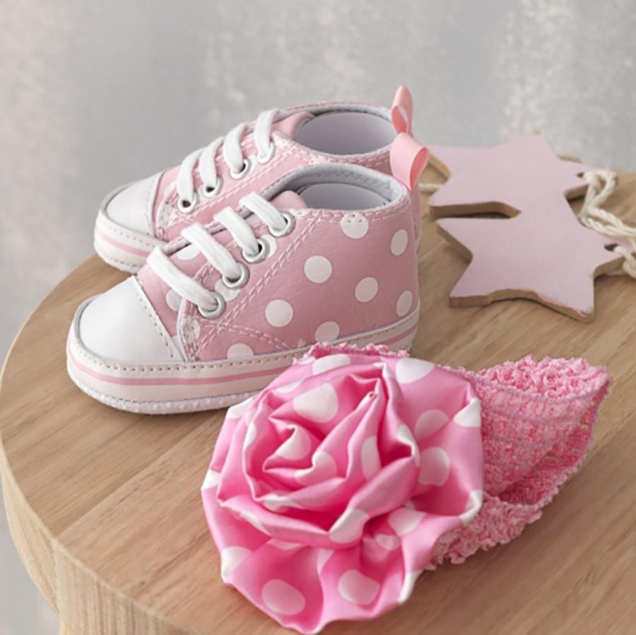 Παπούτσια Αγκαλιάς + Κορδέλα Palamaiki NB0106/Pink