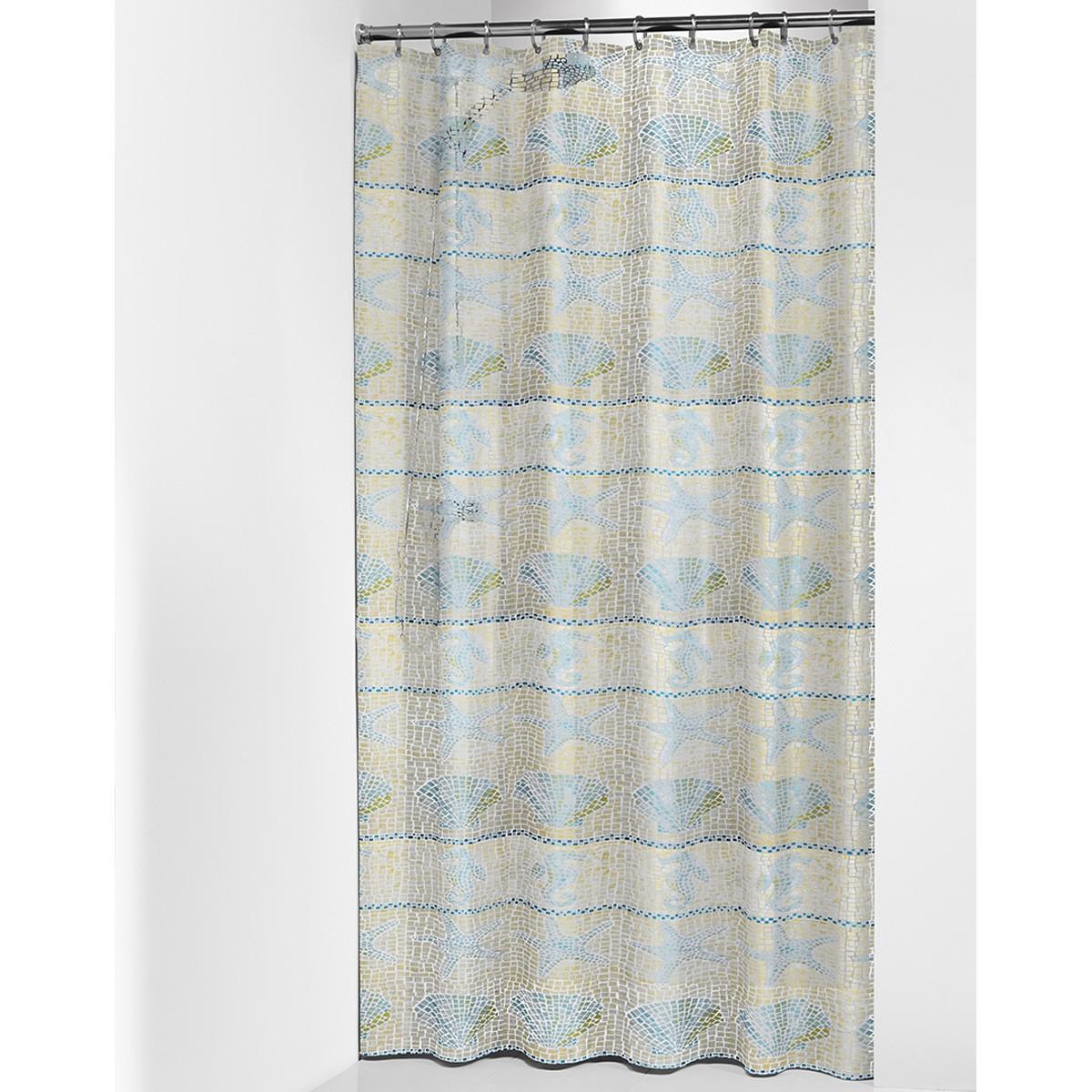 Κουρτίνα Μπάνιου Πλαστική (180×200) SealSkin Elba Blue