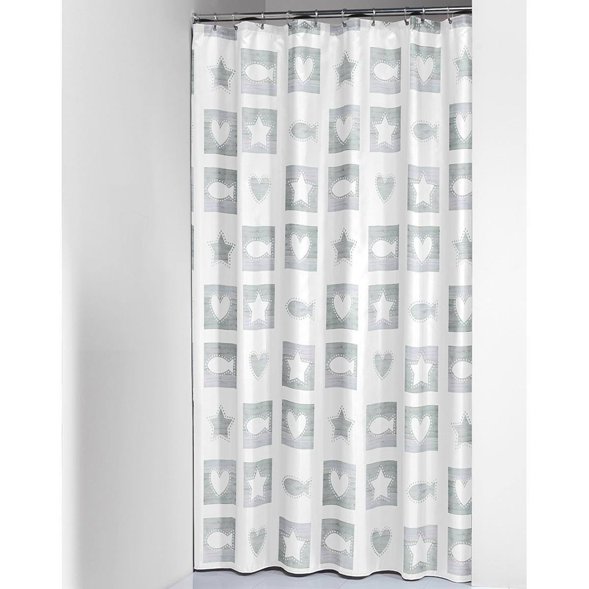 Κουρτίνα Μπάνιου Πλαστική (180×200) SealSkin Chalk