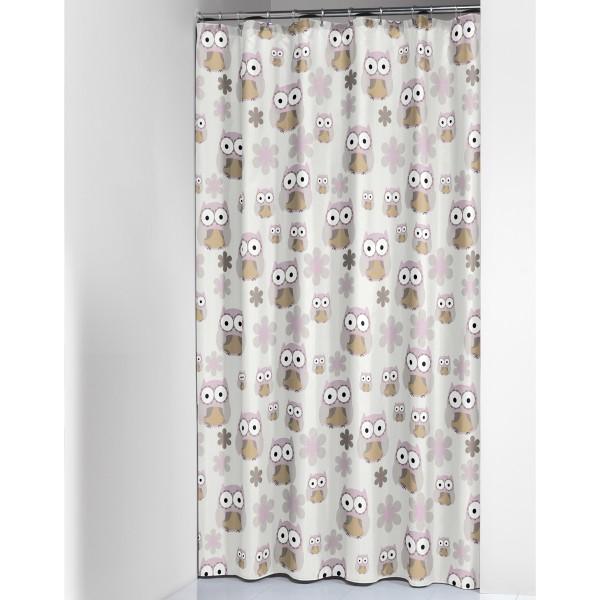 Κουρτίνα Μπάνιου Πλαστική (180x200) SealSkin Owl Sand