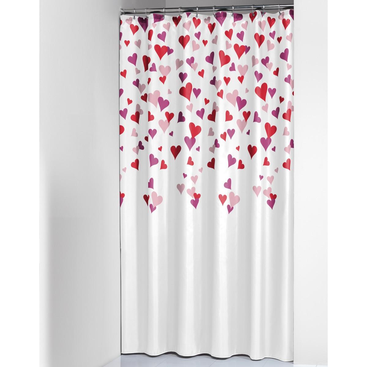 Κουρτίνα Μπάνιου Πλαστική (180x200) SealSkin Cuori
