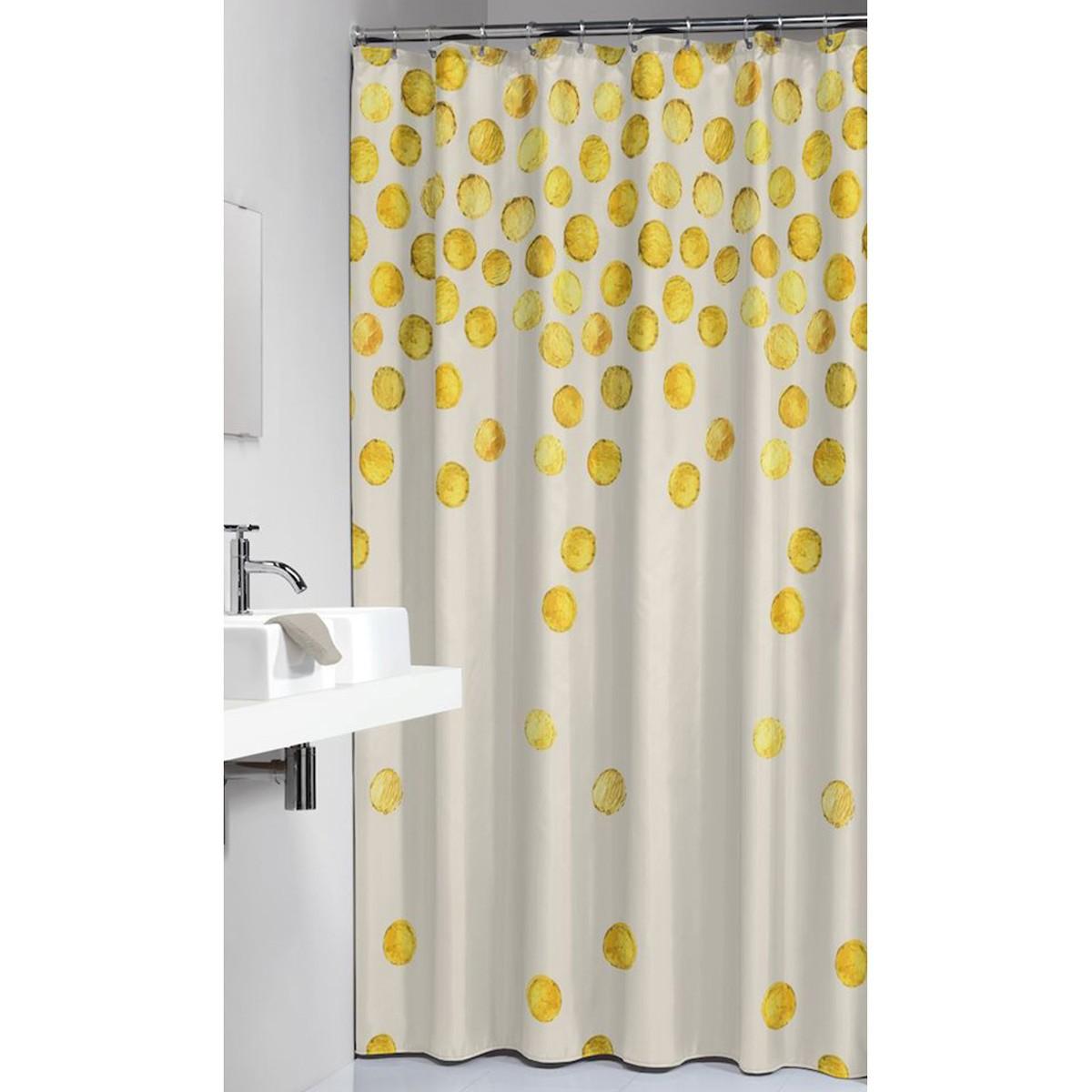 Κουρτίνα Μπάνιου Πλαστική (180x200) SealSkin Spots Gold