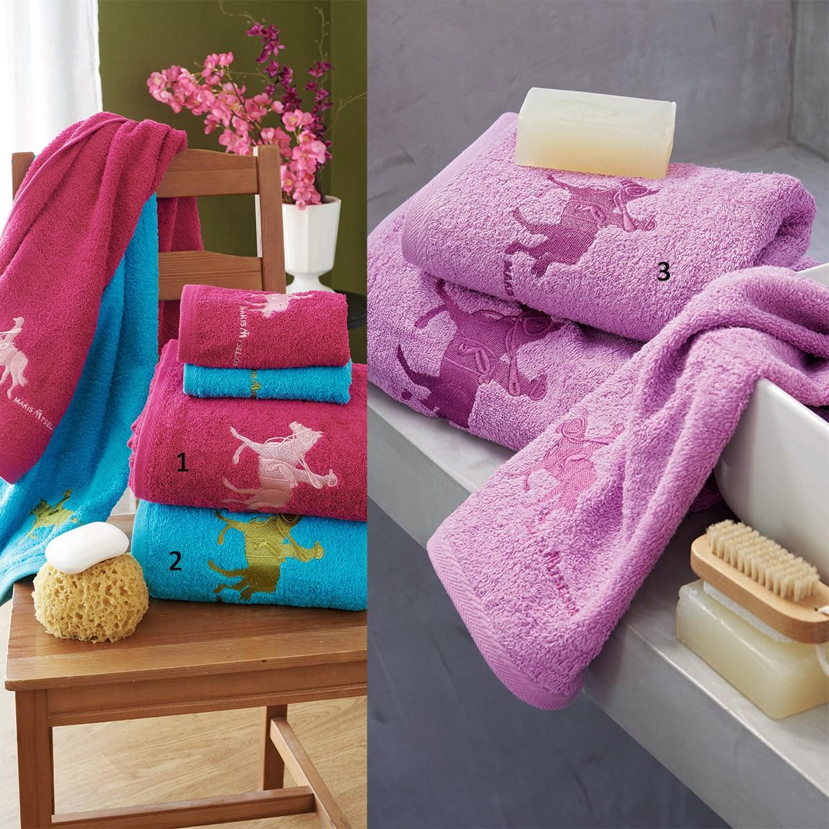 Πετσέτες Μπάνιου (Σετ 3τμχ) Makis Tselios Horse