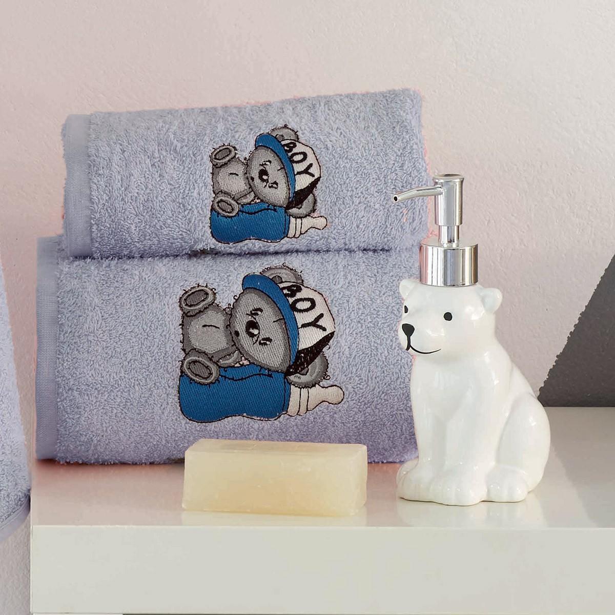 Βρεφικές Πετσέτες (Σετ 2τμχ) Makis Tselios BoyBear