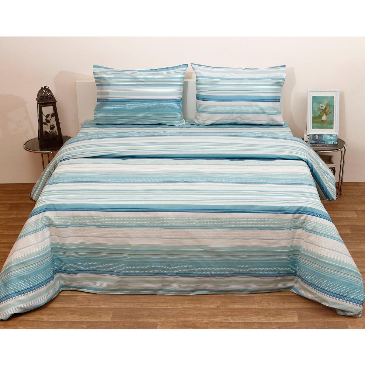 Πάπλωμα Ημίδιπλο (Σετ) Viopros Fresh Γκρέυ Πετρόλ home   κρεβατοκάμαρα   παπλώματα   παπλώματα ημίδιπλα   διπλά
