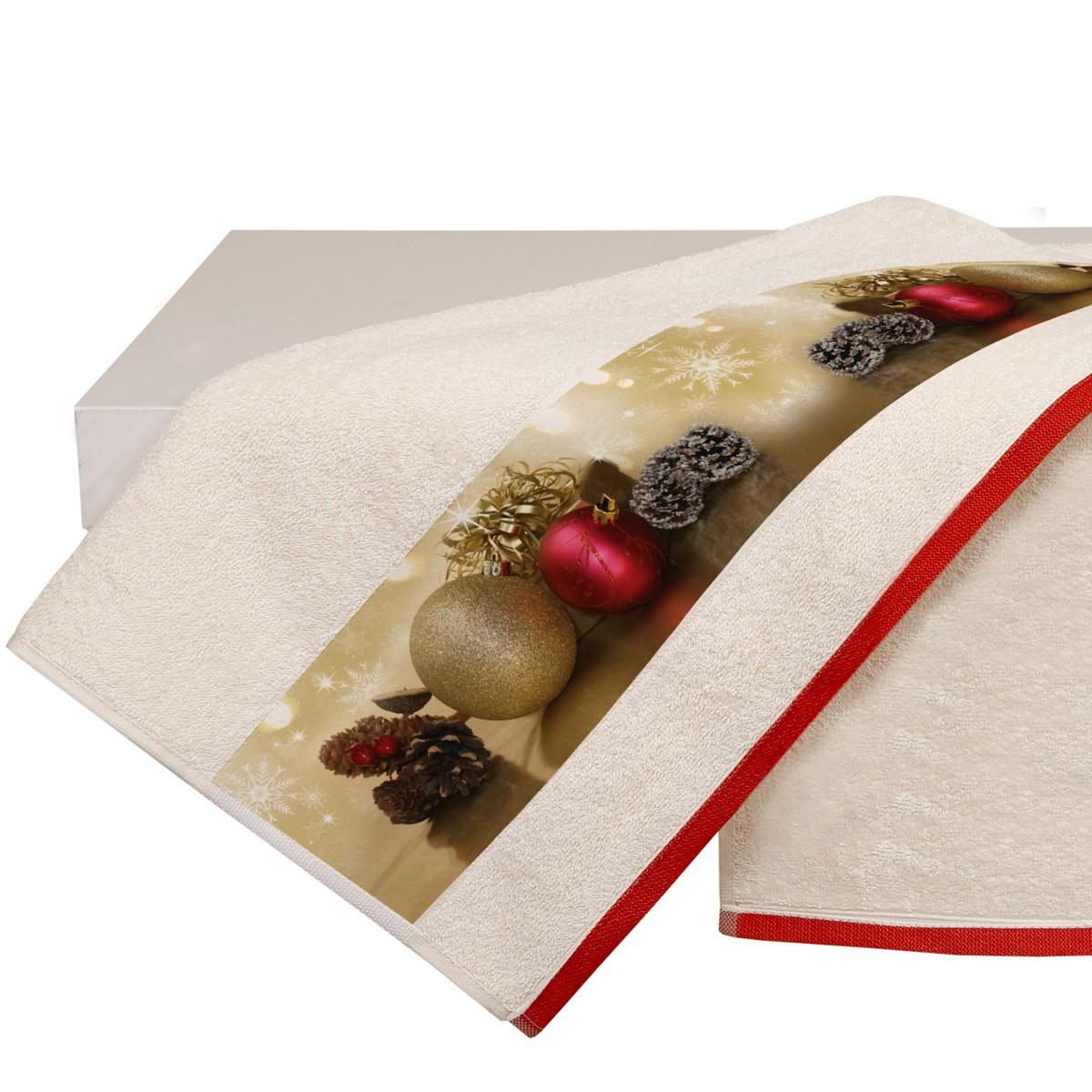 Χριστουγεννιάτικη Πετσέτα Προσώπου (50×90) Viopros 3305