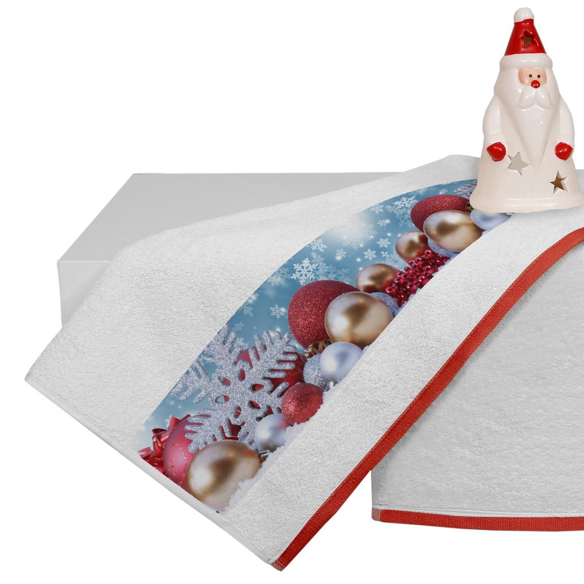 Χριστουγεννιάτικη Πετσέτα Προσώπου (50x90) Viopros 3306