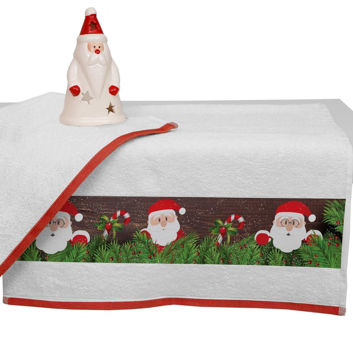 Χριστουγεννιάτικη Πετσέτα Προσώπου (50x90) Viopros 3307