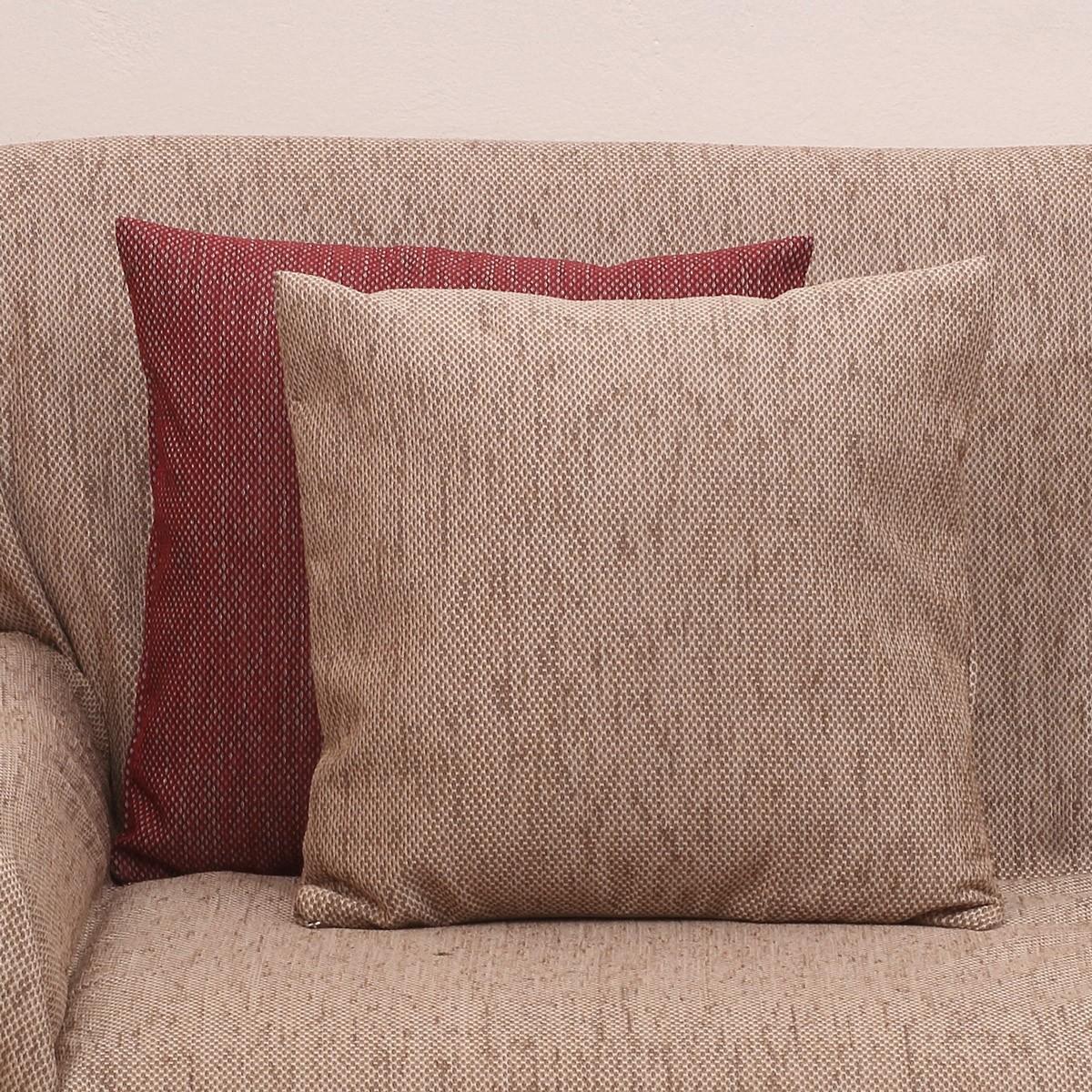 Διακοσμητική Μαξιλαροθήκη (42×42) Viopros 2100 Μπεζ