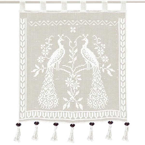 Κουρτίνα Πλεκτή (160x160) Με Θηλιές Viopros Curtain Ideas 3651