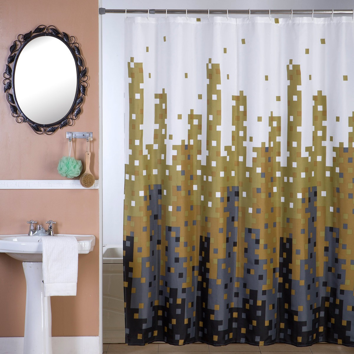 Κουρτίνα Μπάνιου (180×180) Viopros Ντένβερ 79956