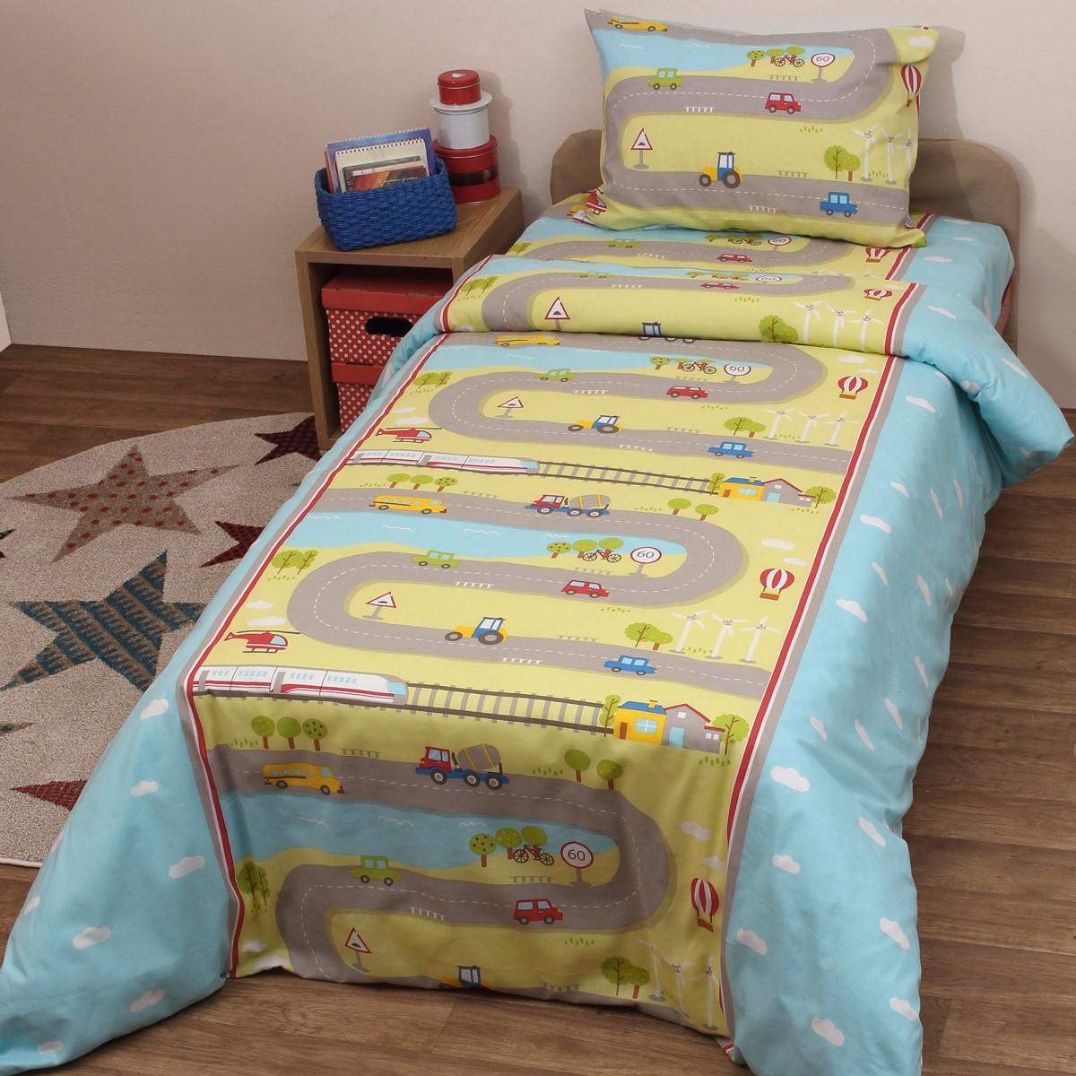 Παπλωματοθήκη Κούνιας (Σετ) Viopros Baby Cotton Ρίβερ home   βρεφικά   παπλωματοθήκες βρεφικές