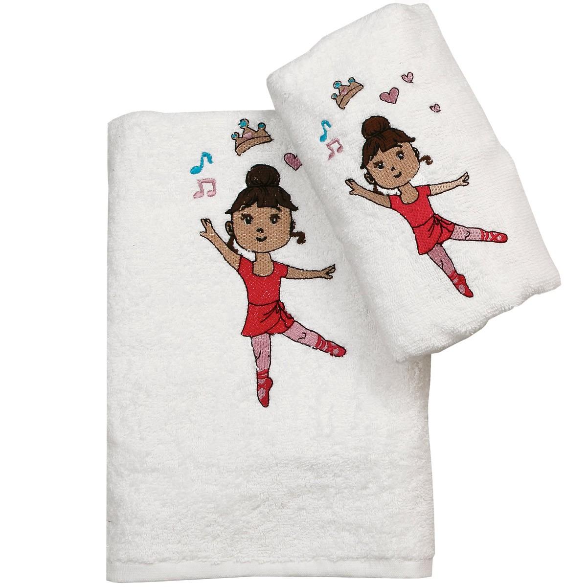 Παιδικές Πετσέτες (Σετ 2τμχ) Viopros Μπαλαρίνα