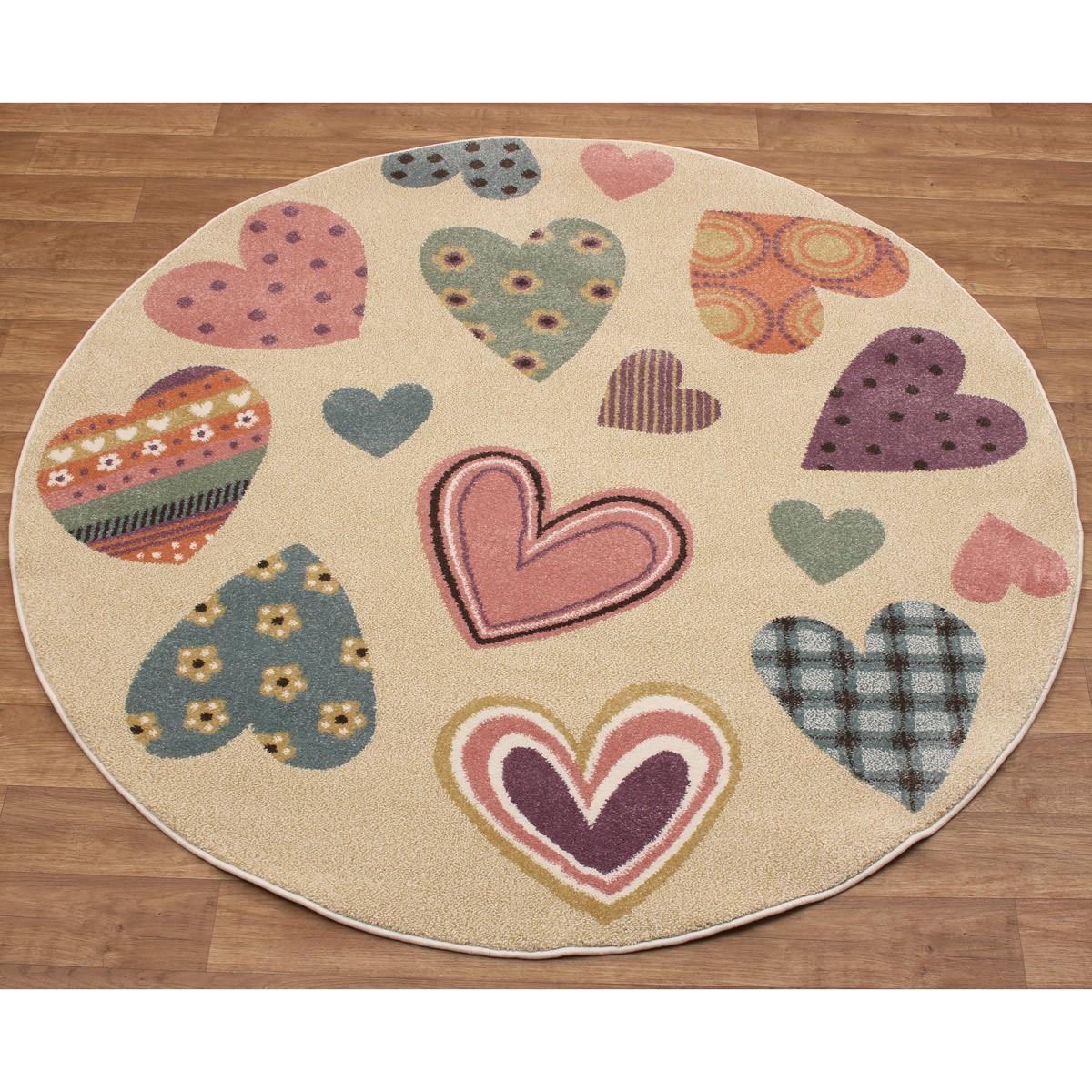 Στρογγυλό Χαλί (Φ160) Viopros Premium Carpets Καρδιές