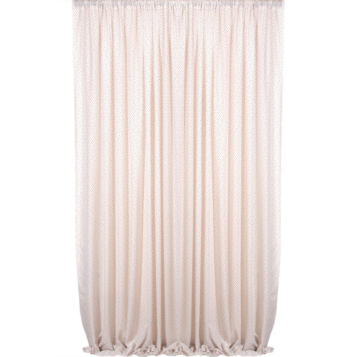 Παιδική Κουρτίνα (160×270) Viopros Curtains Γάζα Πουά Πολύχρωμο
