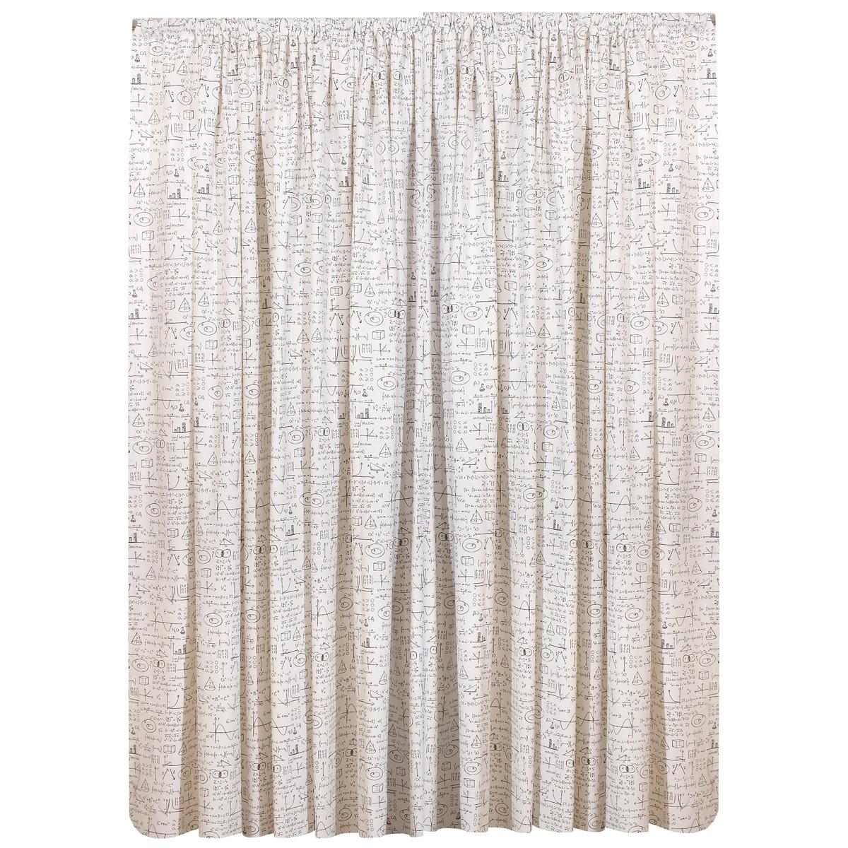 Κουρτίνα (280x270) Viopros Curtains Άλγεβρα Λευκό