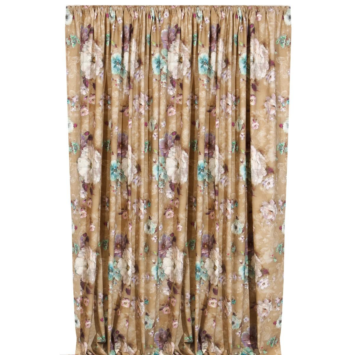 Κουρτίνα (160x270) Viopros Curtains Αλέγκρο Μπεζ