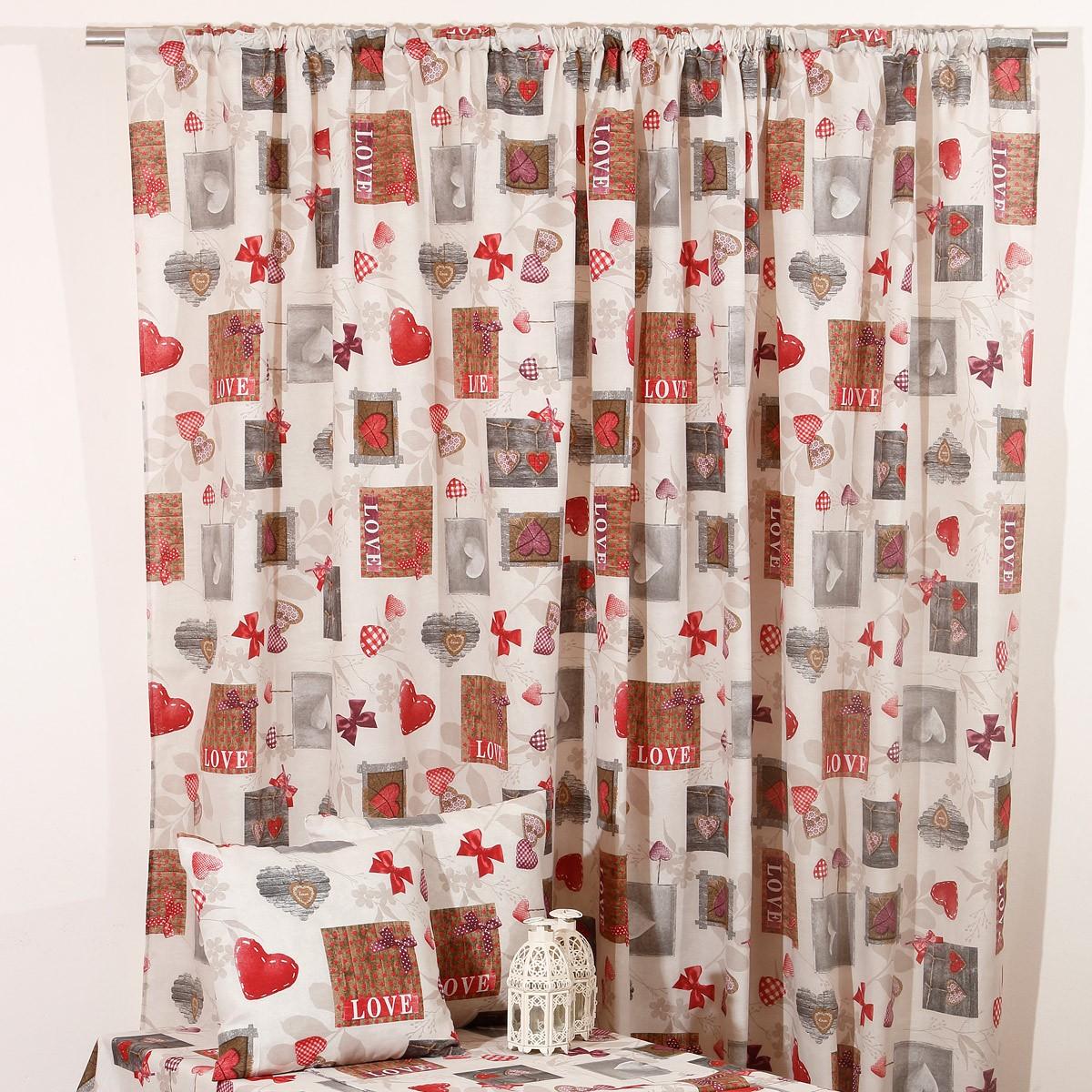 Κουρτίνα (160x270) Viopros Curtains Αμόρ