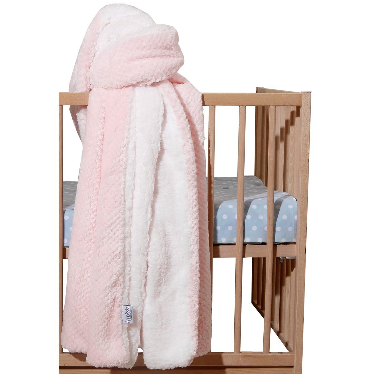 Κουβέρτα Fleece Κούνιας Anna Riska Cozy Pink