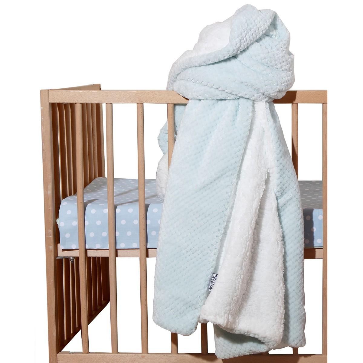 Κουβέρτα Fleece Κούνιας Anna Riska Cozy Sky Blue