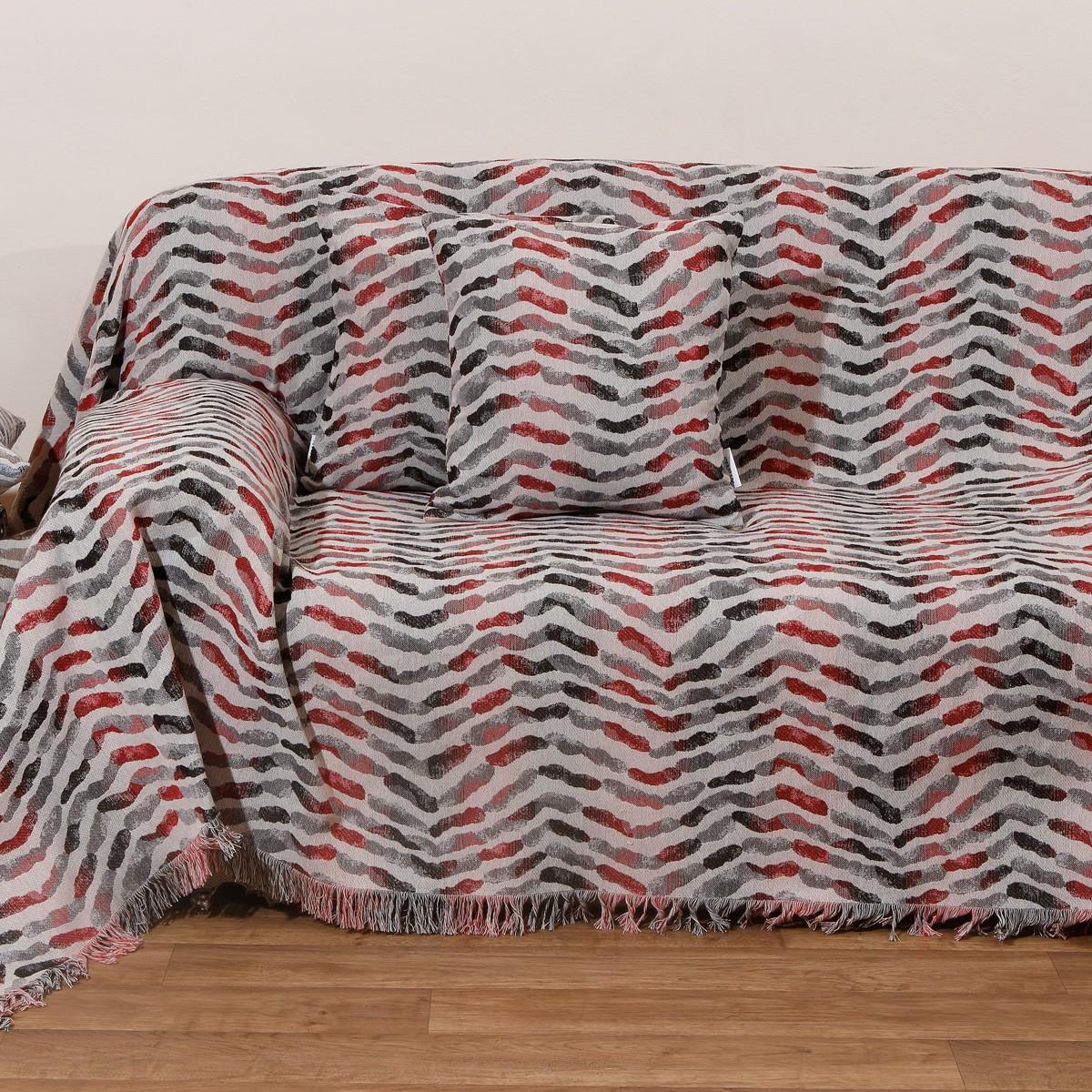 Ριχτάρι Πολυθρόνας (180x180) Anna Riska Des 1505 Red