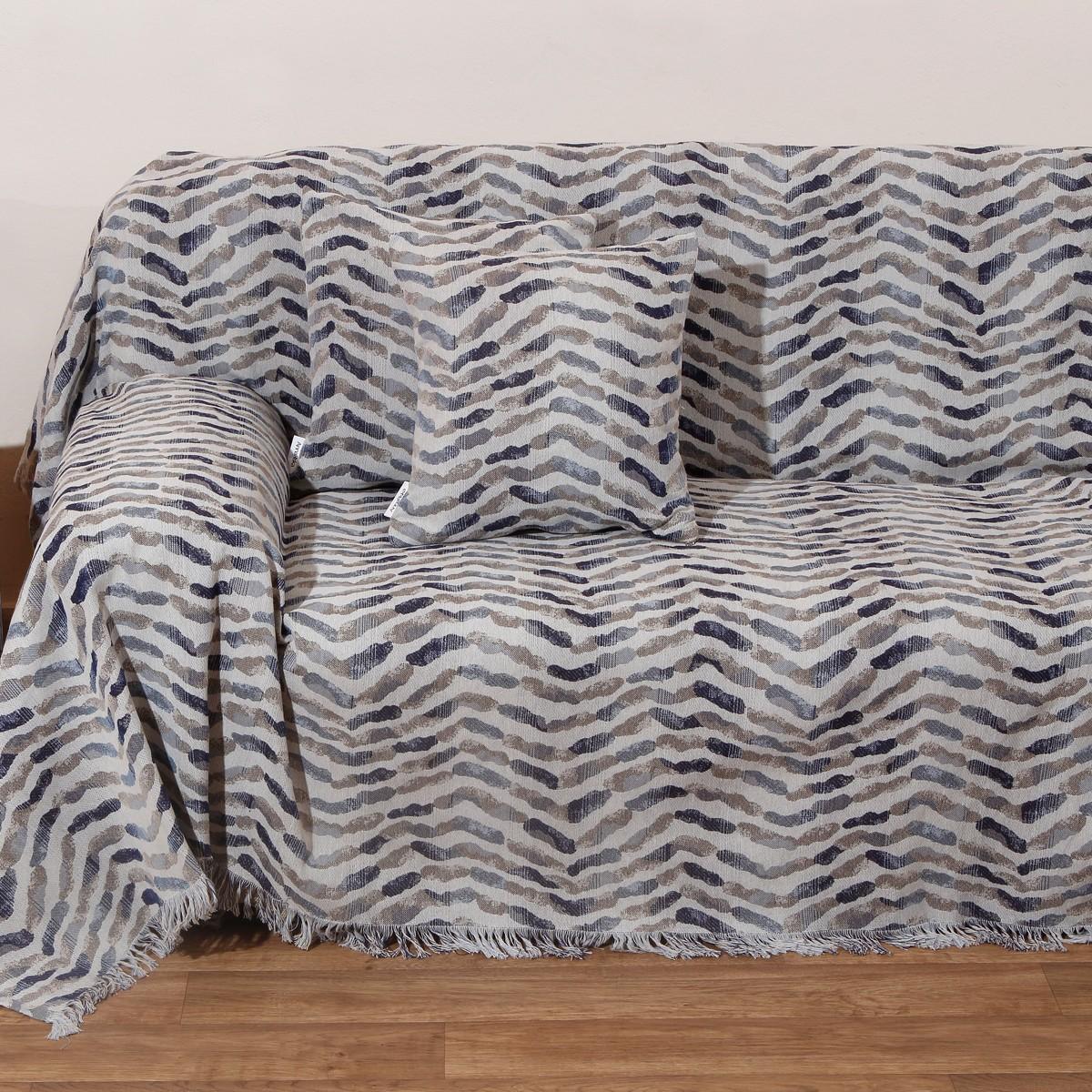 Ριχτάρι Τριθέσιου (180×280) Anna Riska Des 1505 Blue