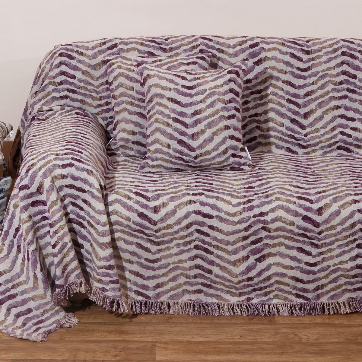 Ριχτάρι Πολυθρόνας (180×180) Anna Riska Des 1505 Lilac