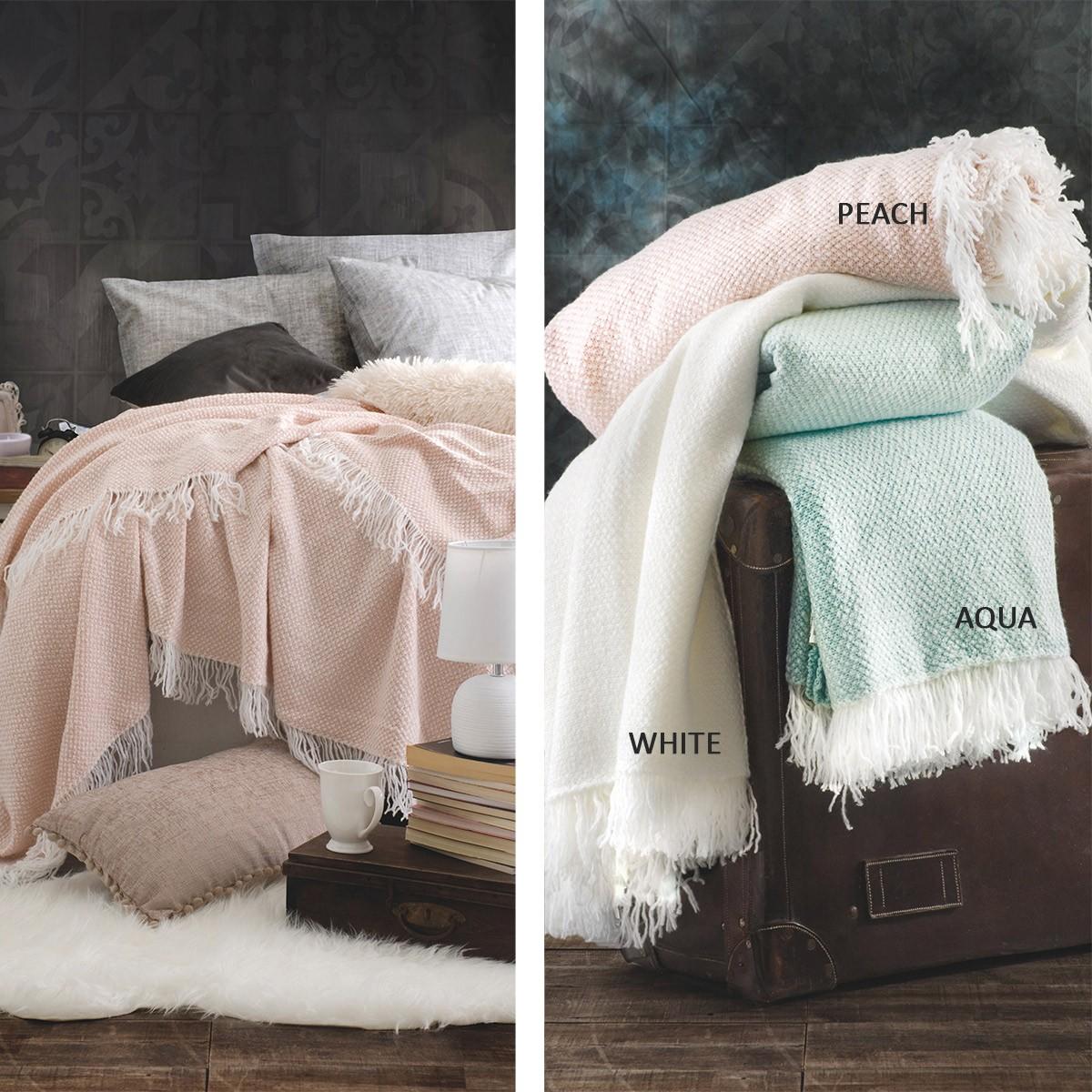 Κουβέρτα Πλεκτή Υπέρδιπλη Rythmos Rebecca home   κρεβατοκάμαρα   κουβέρτες   κουβέρτες πλεκτές