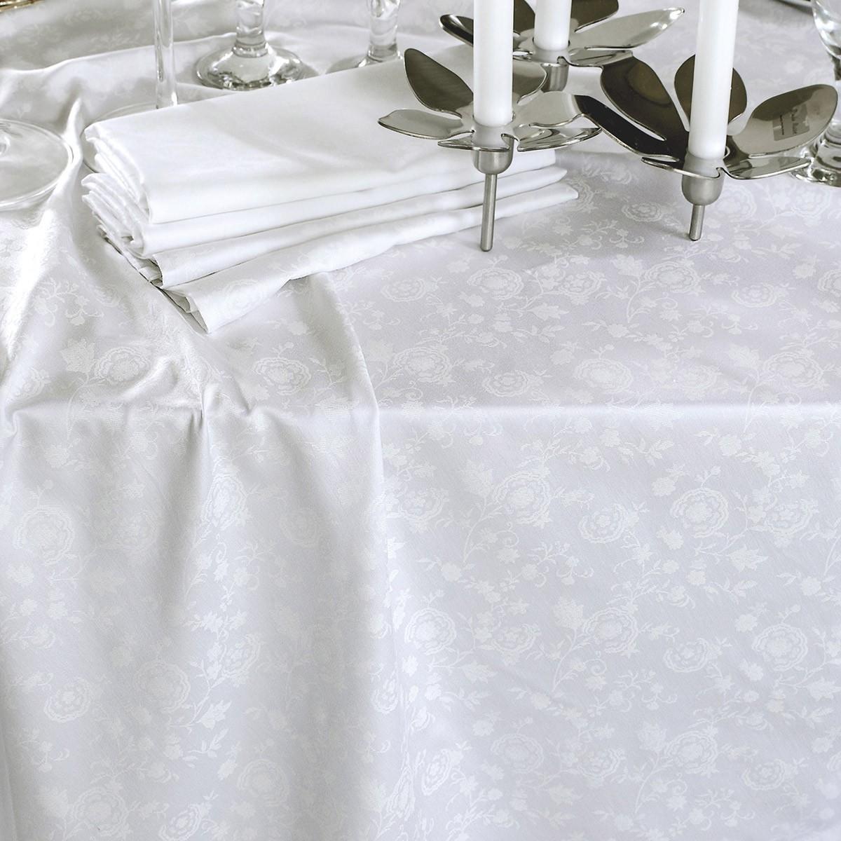 Πετσέτα Φαγητού (50x50) Rythmos Merida White