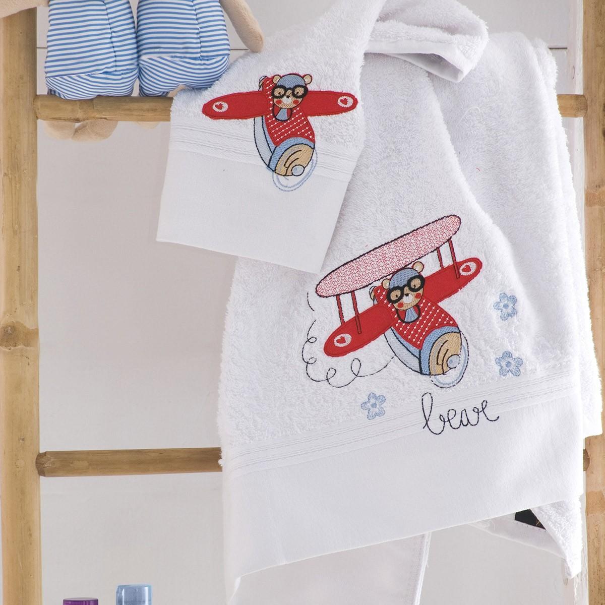 Παιδικές Πετσέτες (Σετ 2τμχ) Rythmos Kids Pilot home   παιδικά   πετσέτες παιδικές
