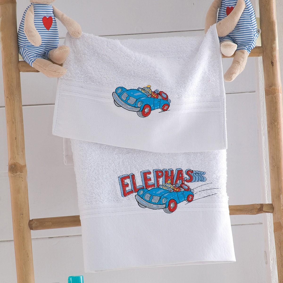 Παιδικές Πετσέτες (Σετ 2τμχ) Rythmos Kids Racing