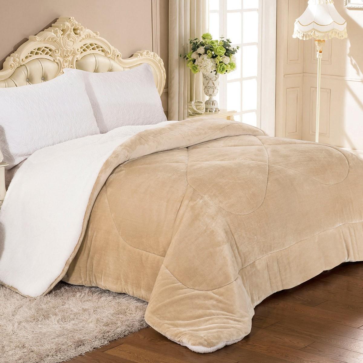 Κουβερτοπάπλωμα Υπέρδιπλο AdamHome 805 Off White home   κρεβατοκάμαρα   παπλώματα   κουβερτοπαπλώματα