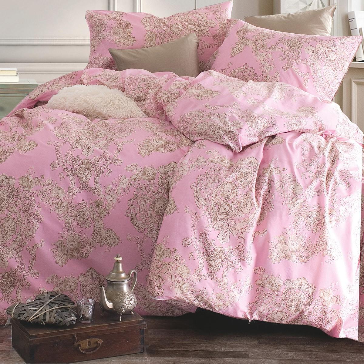 Σεντόνια Υπέρδιπλα (Σετ) Rythmos Nova Elodie Pink ΧΩΡΙΣ ΛΑΣΤΙΧΟ 220×260 ΧΩΡΙΣ ΛΑΣΤΙΧΟ 220×260