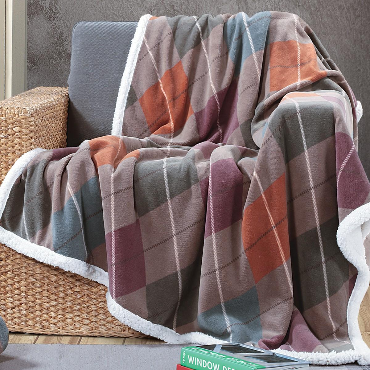 Κουβέρτα Καναπέ Nef-Nef Jagger Aqua