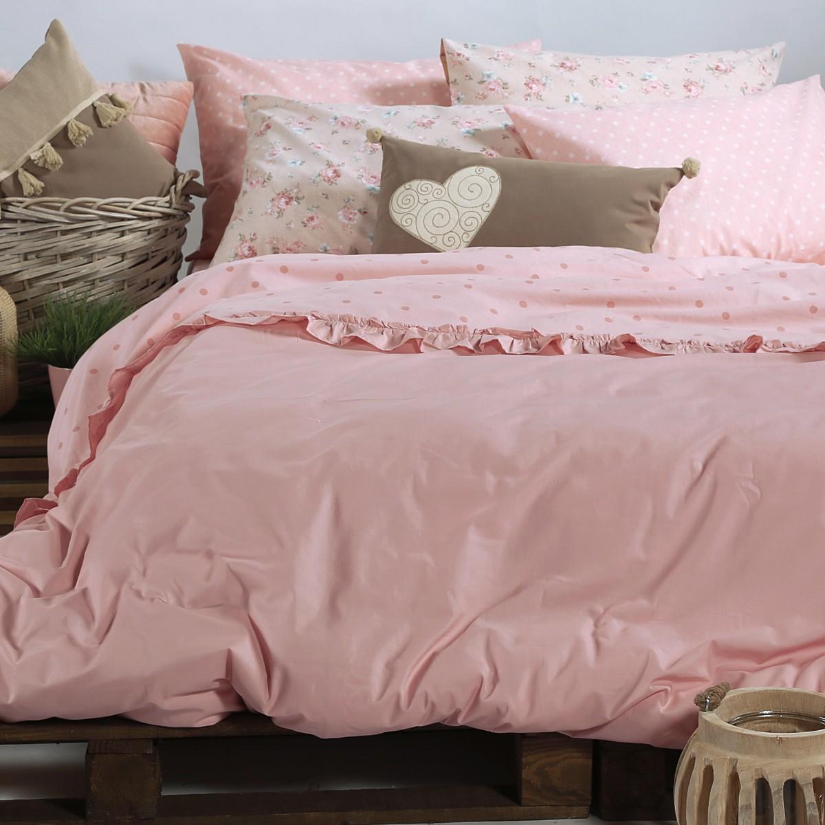 Παπλωματοθήκη Μονή Nef-Nef Raffles Pink